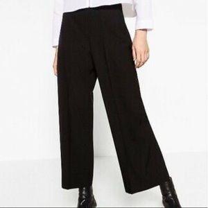 ZARA Black Wide Leg Palazzo trousers